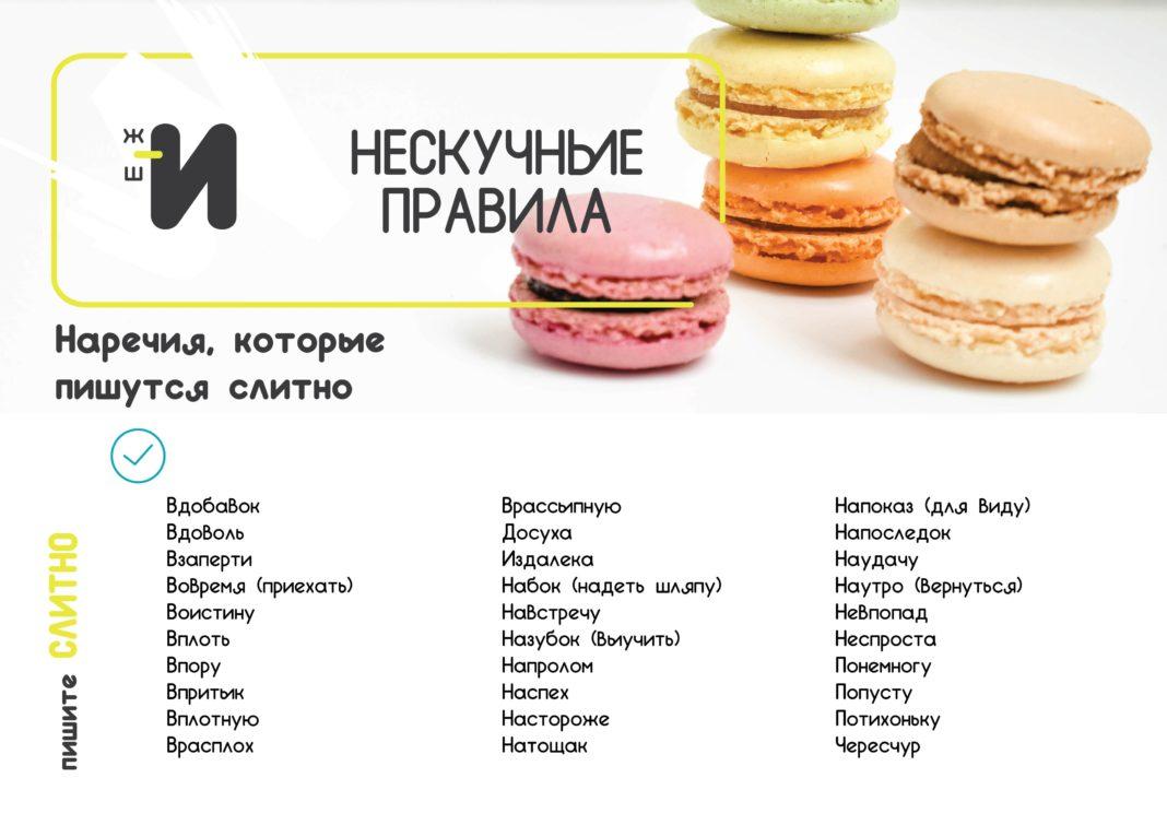 картинка правила русского языка наречие