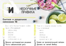 картинка правила русского языка написание частицы не