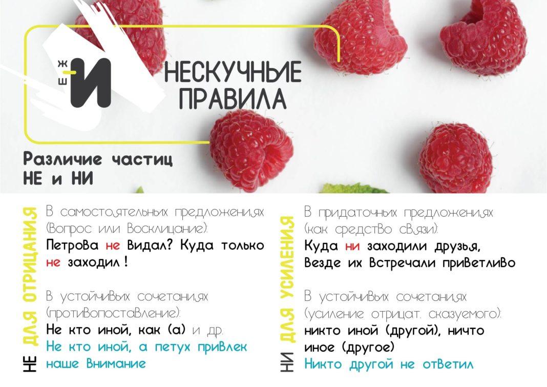 картинка правила русского языка про частицы