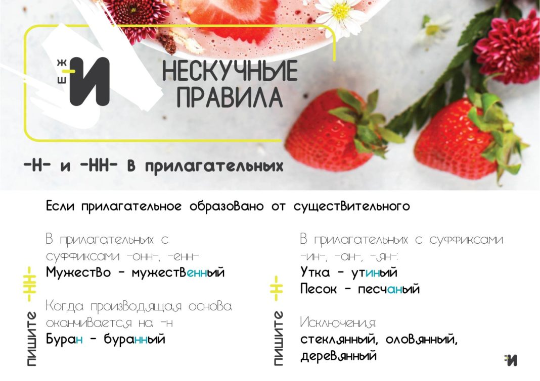 картинка русский язык н в прилагательных